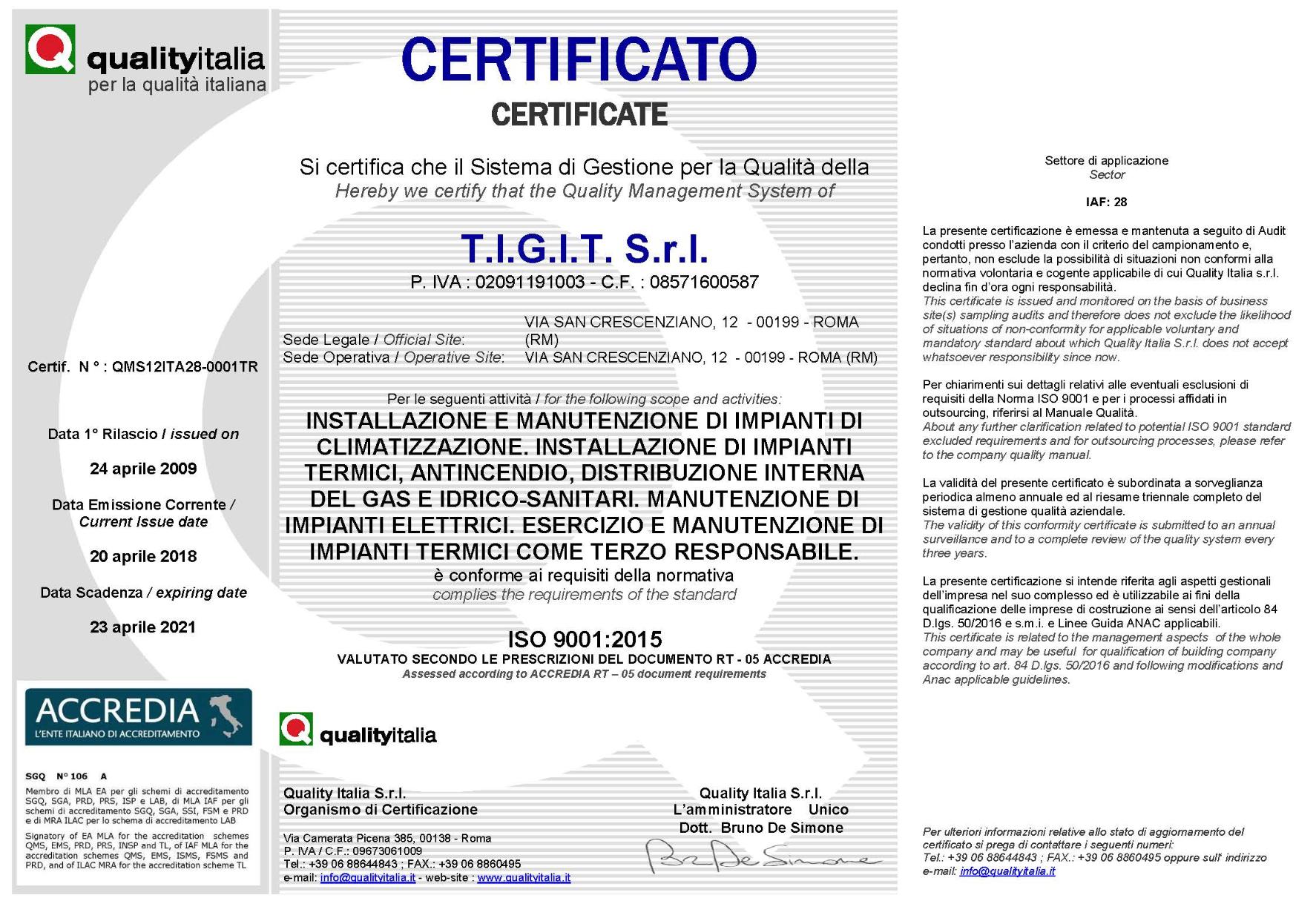 tigit - quality italia